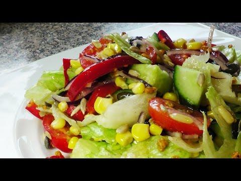 Салат из помидор и огурца