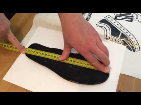 Как измерить размер стопы в см