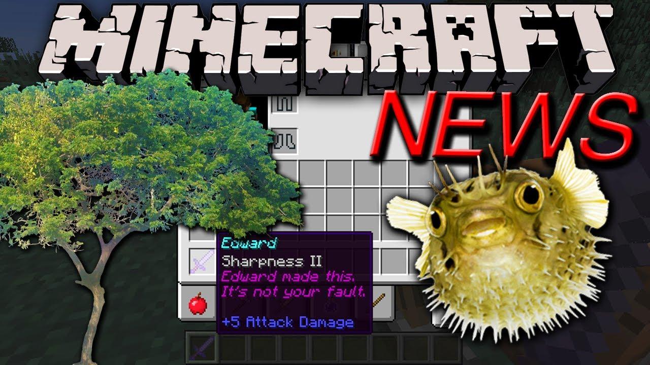 Minecraft News: 1.7 Deadly Pufferfish, Magic Lore, Acacia ...