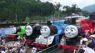大井川鉄道  ジェームス トーマス ヒロ パーシー 【Japanese real James&Thomas&Hiro&Percy】2015 thumbnail