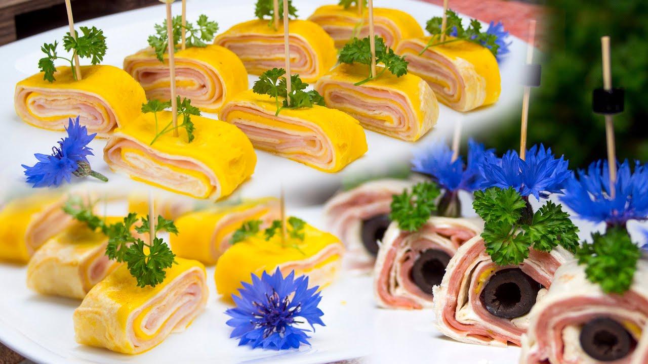 Roladki z tortilli zapiekane z jajkiem, serem, szynką oraz mortadelą