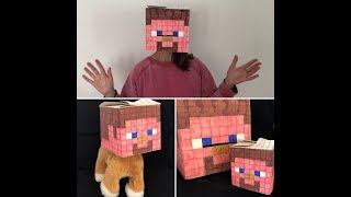 Make Your Own Steve from Minecraft Box Head with BoxHead Craft, and one for your toy too