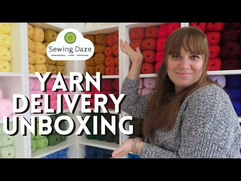 YARN/WOOL DELIVERY UNBOXING: