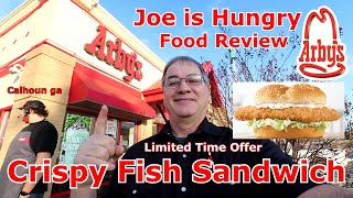 Arby's New Crispy Fish Sandwich Review   Limited Time Offer   Joe is Hungry