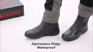Alpinestars Moto Bottes Ridge v2 Drystar Étanche Bottes avec protections