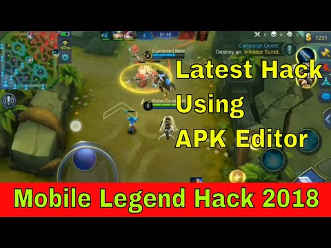 Mobile Legends Hack Using APK Editor || LATEST HACK 2019