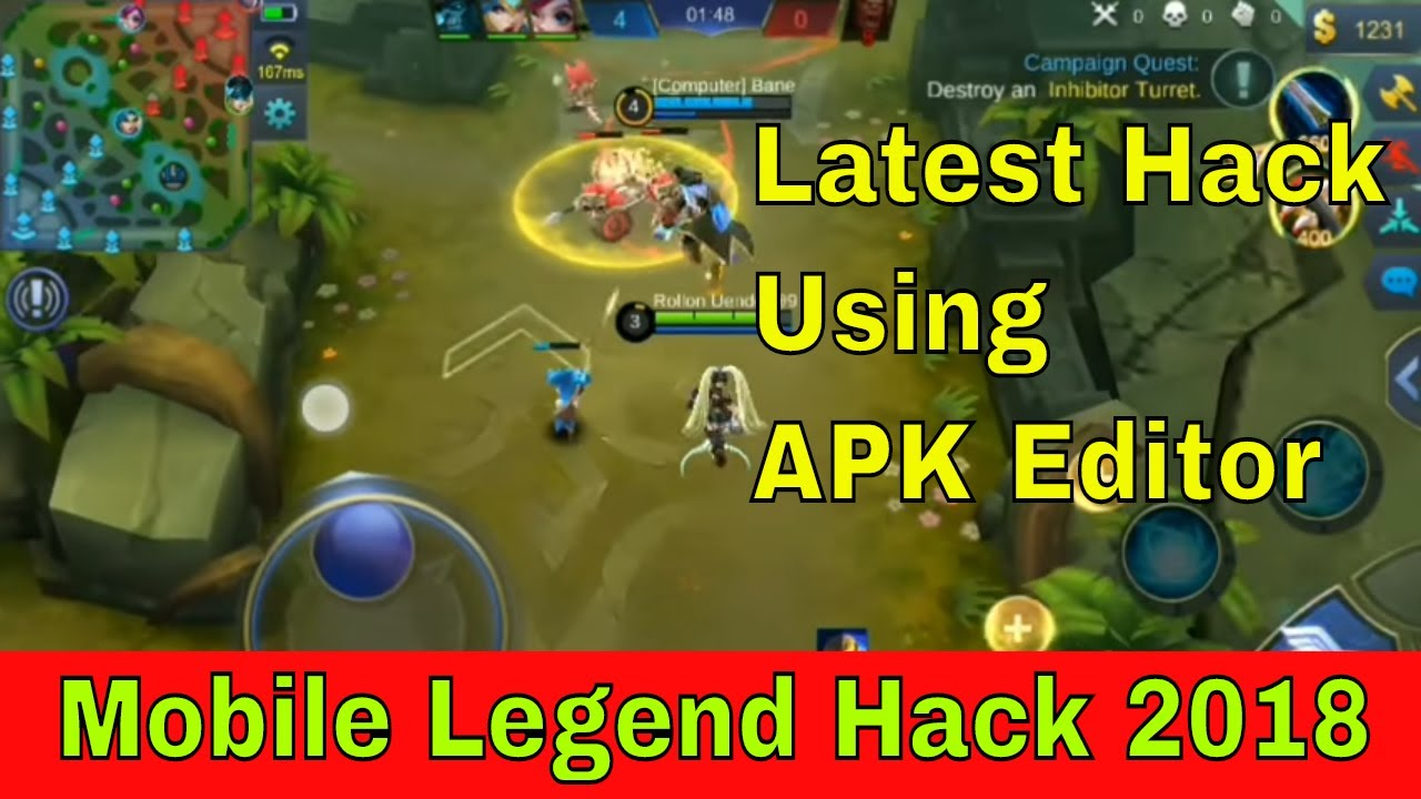 Mobile legends hack using APK Editor || LATEST HACK 2018