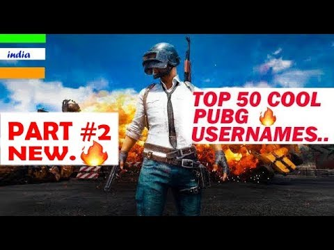PART #2|Pubg Username Ideas: Top 50 Cool Pubg Usernames|pubg Username Suggestions [Hindi]