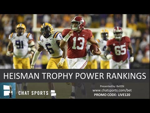 Heisman Trophy Power Rankings: Tua Tagovailoa Leads Top 10 Candidates In 2018 Race