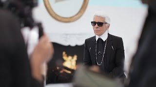 Karl Lagerfeld's Interview - Fall-Winter 2014/15 Haute Couture CHANEL show Thumbnail