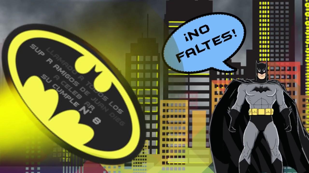 Tarjeta De Invitación Batman Cómic Youtube