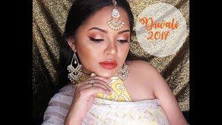 Orange and Gold Desi Makeup Look | Diwali 2017 | Jay Gurbuxani