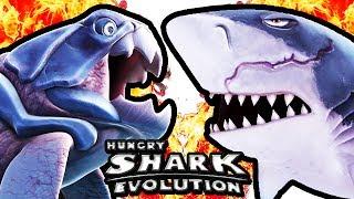 hungry shark evolution big daddy vs megalodon