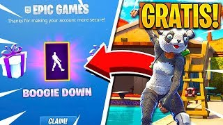 HOW TO HAVE THE DANCE *BOOGIE DOWN* FREE! in Fortnite - Two-Step Authentication