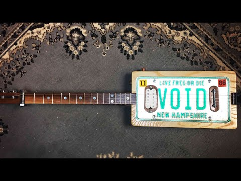 Upcycled License Plate Guitar