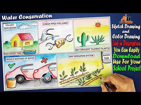 Drawing on Water Conservation | Drawing on Water Harvesting
