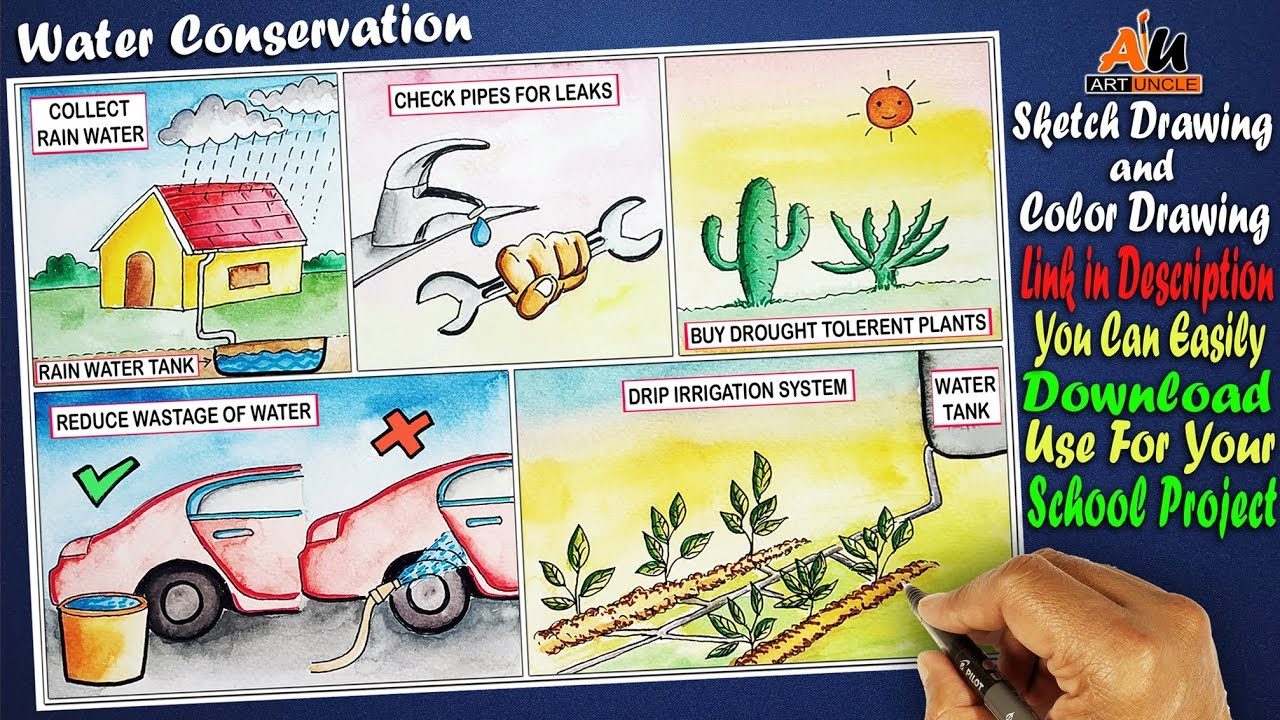 Drawing On Water Conservation