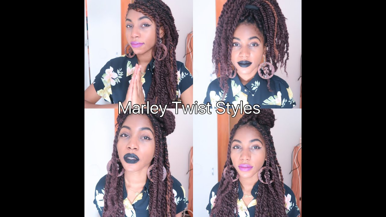 how to style marley twists!!! | protective hairstyle - youtube
