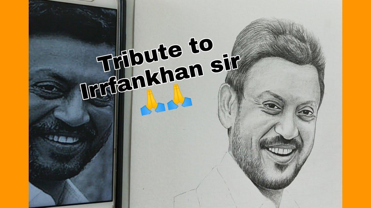 Sketching video of Irrfankhan 🙏🙏RIP