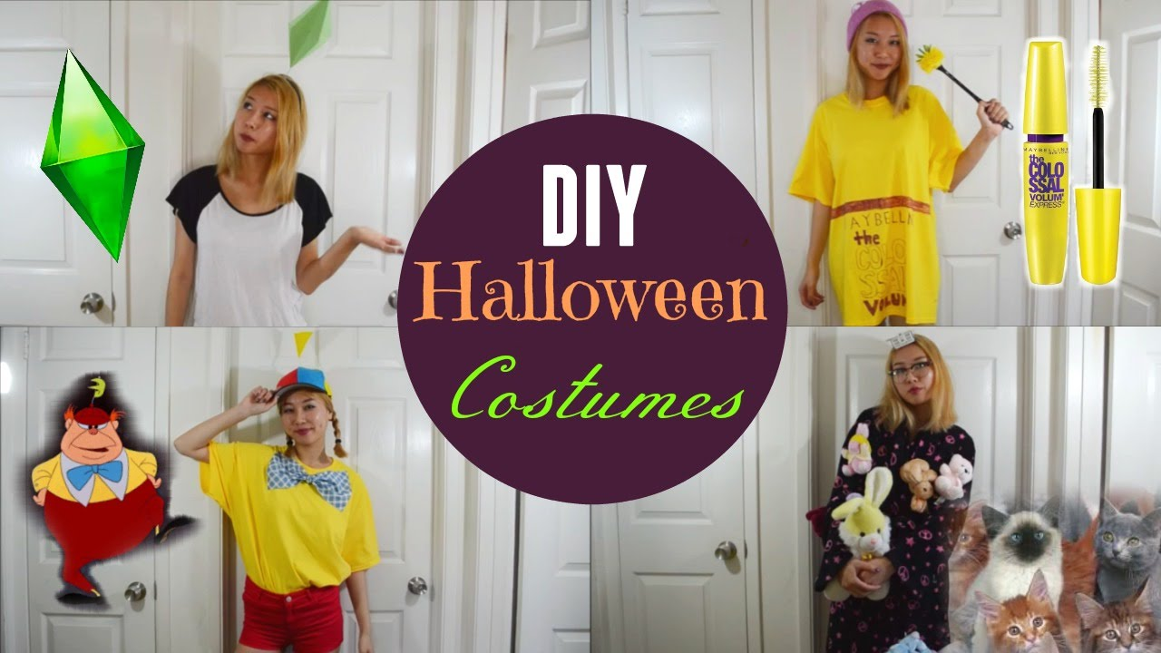 diy halloween costumes for teens sims mascara tweedledee crazy cat lady youtube