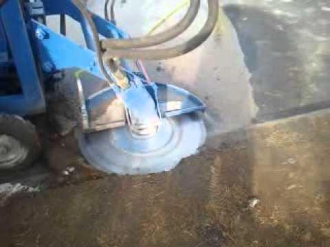 horizontal curb cutting machine youtube