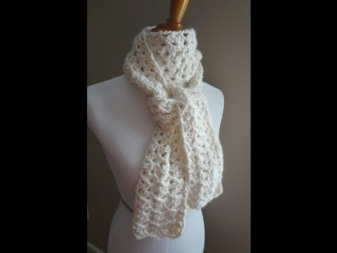 Crochet Scarf Patterns Youtube : Episode 8: How to Crochet the Vanilla Bean Scarf - YouTube