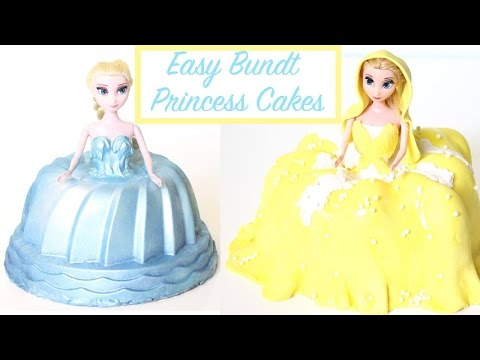 how to make easy PRINCESS DRESS CAKES WITH BUNDT MOULDS!
