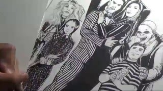 Drawing The Addams Family by Gregory Krazed
