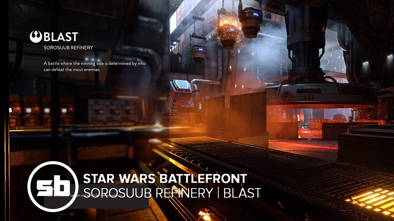 Star Wars Battlefront - Outer Rim - Sorosuub Refinery Blast Gameplay