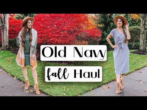 [VIDEO] - OLD NAVY FALL TRY ON HAUL *Affordable fall outfit ideas!* 2