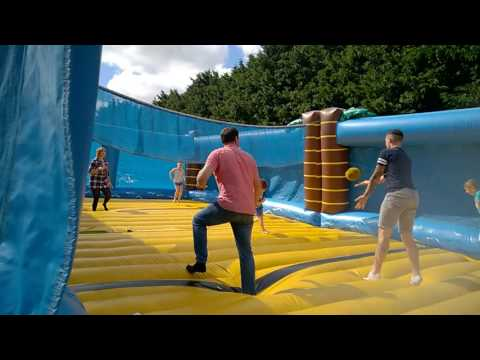 Inflatable Volleyball at the Oxford Belfry Hotel