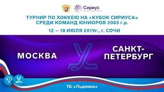 Хоккейный матч. 16.07.19. «Москва» - «Санкт-Петербург»