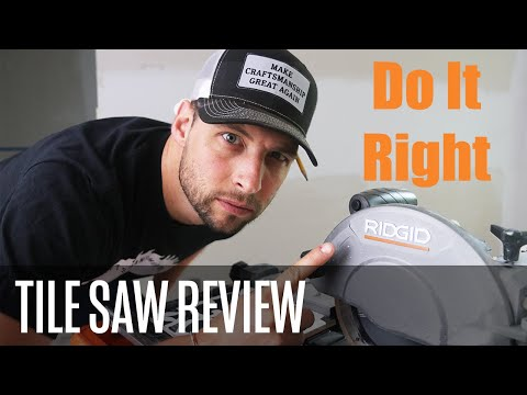 The BEST Wet Tile Saw For DIYers (and Some Professionals) Rigid 7