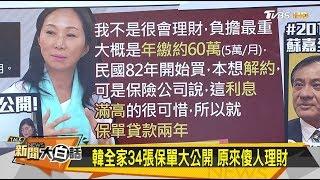 韓國瑜全家34張保單大公開 原來傻人理財 新聞大白話 20190709