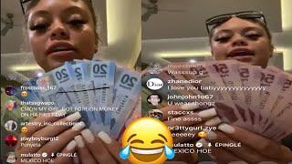 Mulatto Big Latto LIVE shows her Money in Mexico