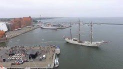 ARGUS Luftbild, Dreimastbark ARTEMIS in Stralsund