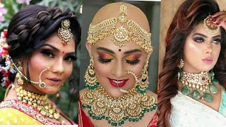2020 bridal makeup and hairstyles pictures,bridal hairstyles 2019 pictures,bridal makeup latest