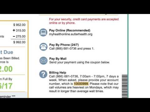 Sutter Health Simplified Billing
