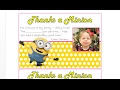 How to make personalized picture fill in the blank thank you cards