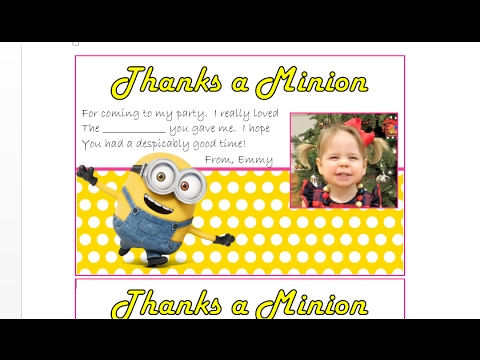 How to make personalized picture fill in the blank thank you cards - how to make a thank you card in word