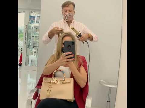 FUN BIG HAIR FESTIVITIES! Jennifer Nicole Lee at Danny Jelaca hair salon September 12, 2020