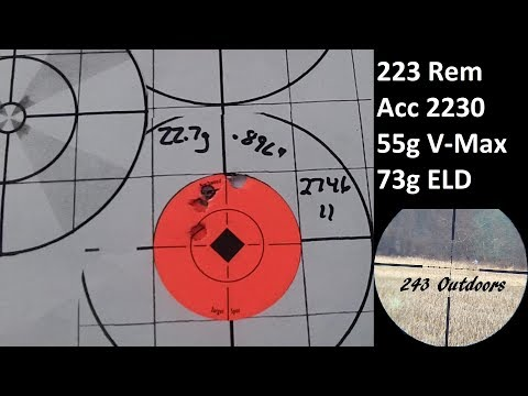 223 Rem Accurate 2230; 55g Vmax & 73g ELD