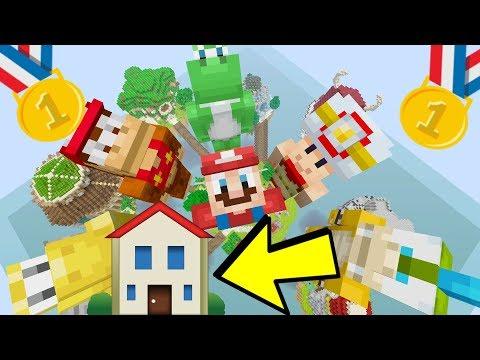 BEST MINECRAFT HOUSE BUILD?! [CONTEST] - Mario Sky Island - (Minecraft Switch) [2]