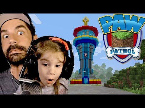 Paw Patrol Minecraft Adventure with My Daughter! :: Finding