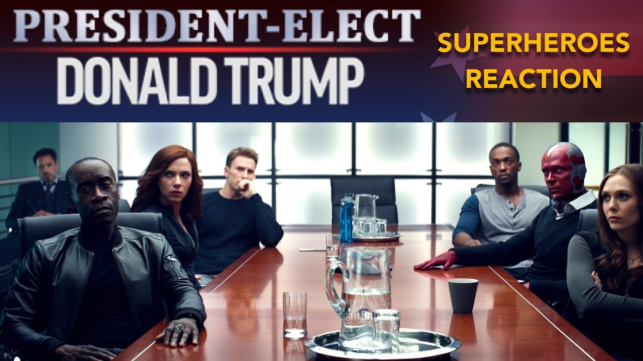Superheroes React To Donald Trumps Victory REACTION MASHUP - 18 hilarious reactions to donald trump winning the election
