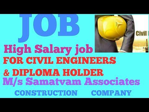 M/s. Samatvam Associates construction company hiring civil engineers immediately |Civil Engineering