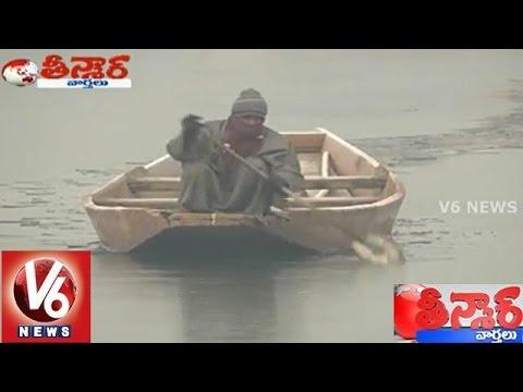 Dal Lake Freezes As Temperature Record Low In Jammu  Kashmir - Teenmaar News