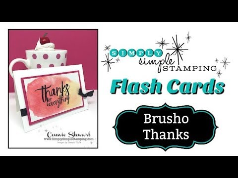 Simply Simple FLASH CARDS - Brusho Thanks by Connie Stewart