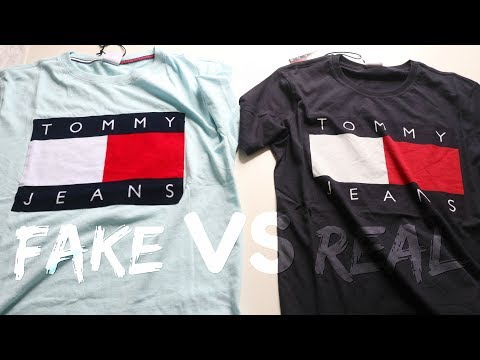 21e61f5e5 How to Spot a FAKE TOMMY HILFIGER T-Shirt | Fake Vs Real - YouTube