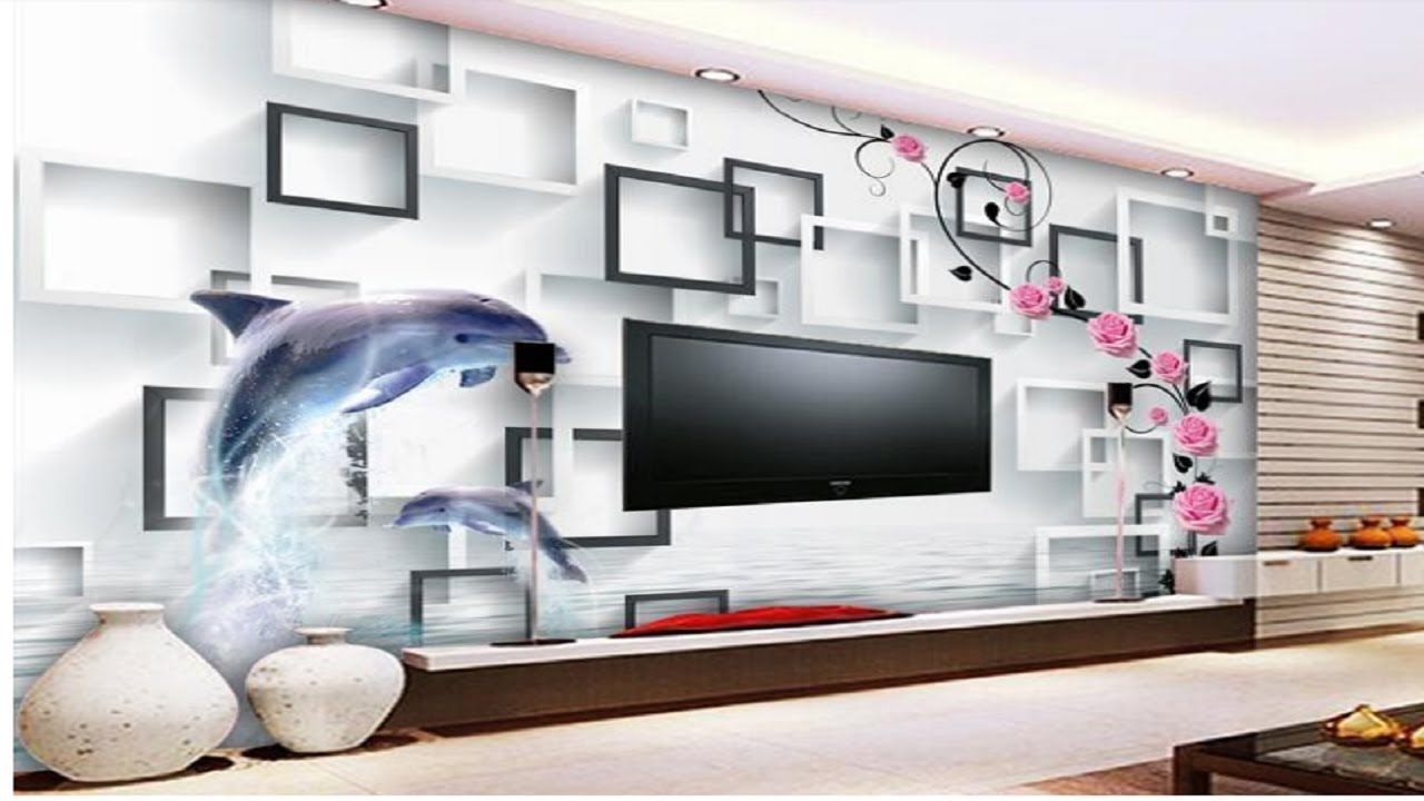 best wallpaper for small living room photo of decorating 2 amazing top 20 3d ideas youtube